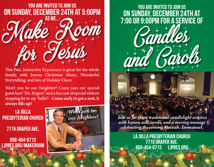 A Joyous Christmas Cast.You Are Invited To Join Us On Sunday December 24th As We